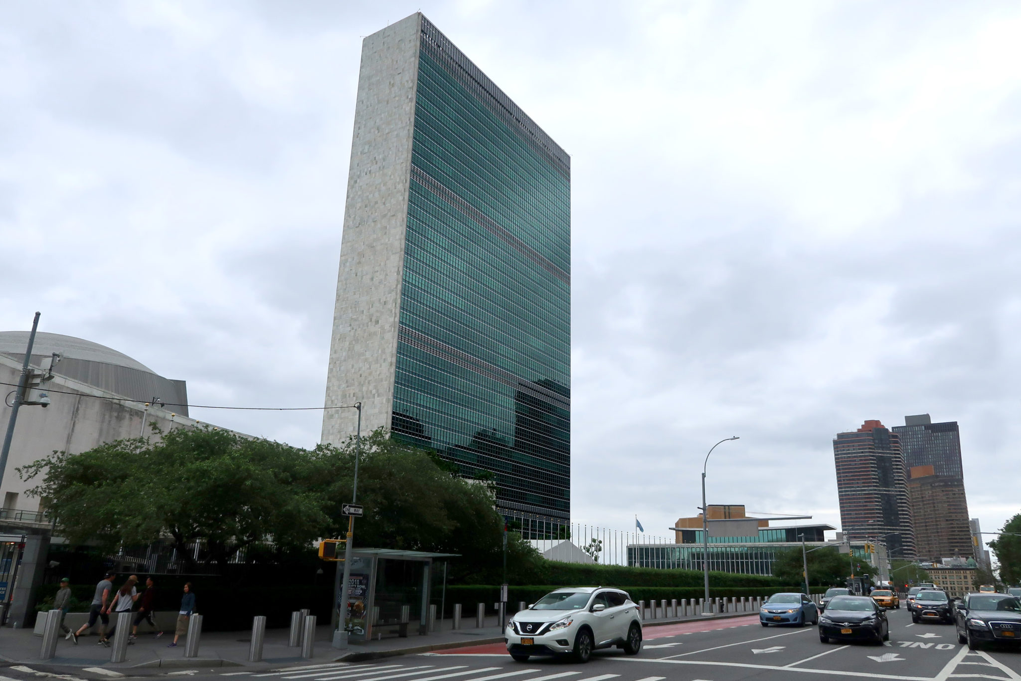 Siège de l'Organisation des Nations Unies (ONU), New York.