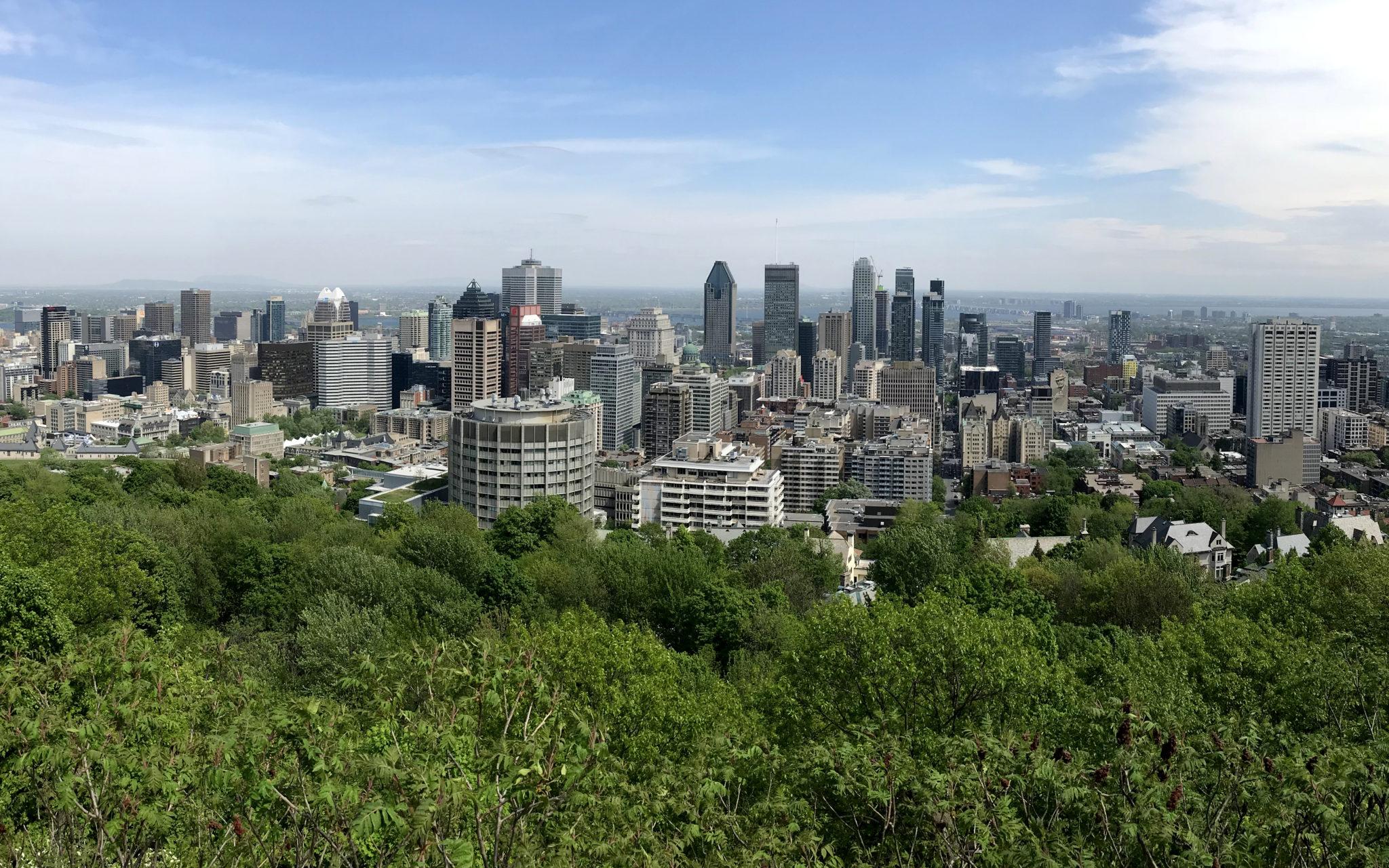 Montreal vista desde el mirador del Chalet du Mont Royal.