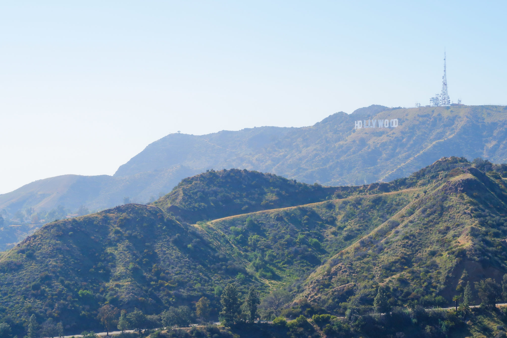 Lettres d'Hollywood sur le mont Lee, Californie.