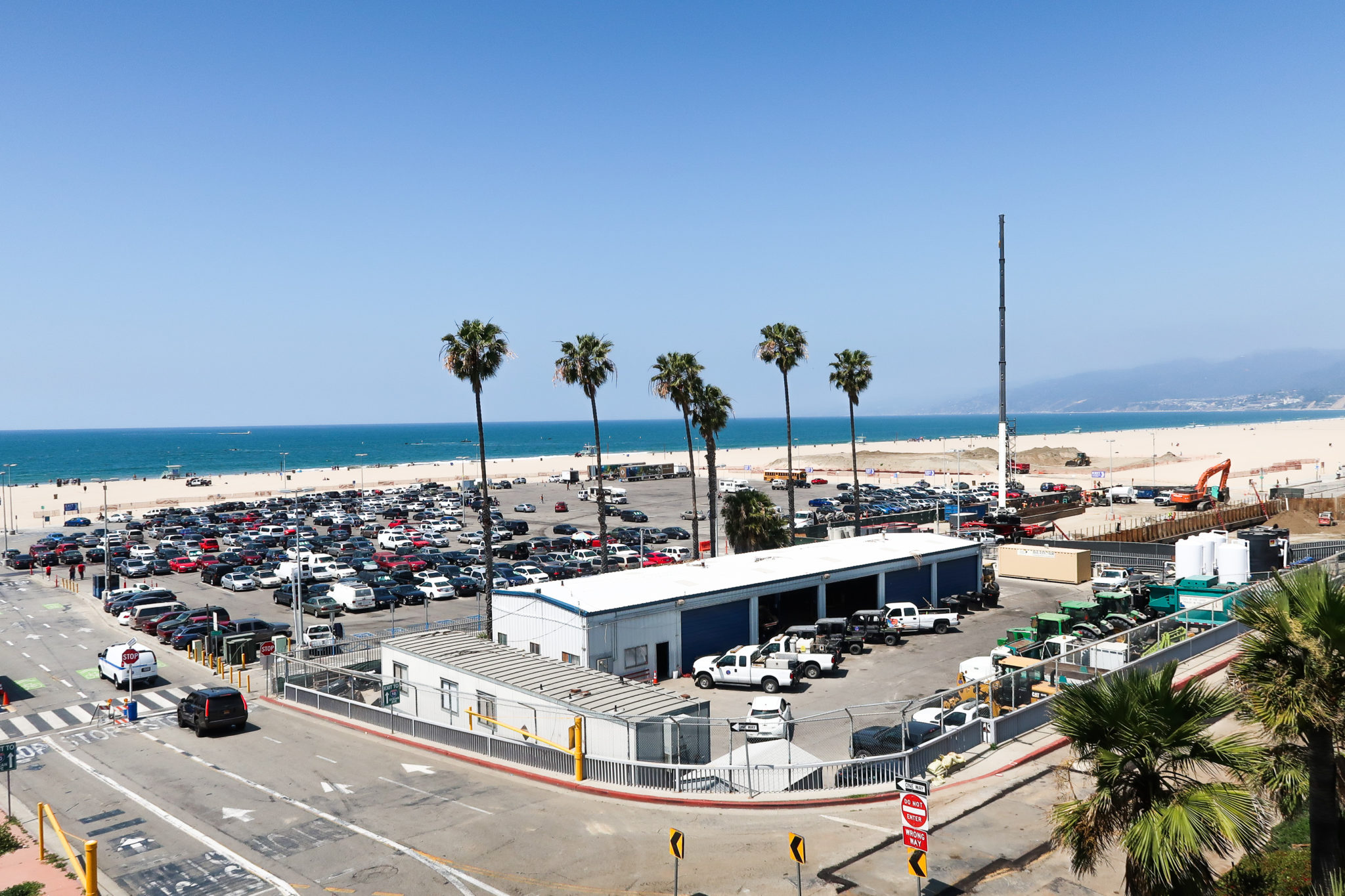 Plage de Santa Monica, Californie.