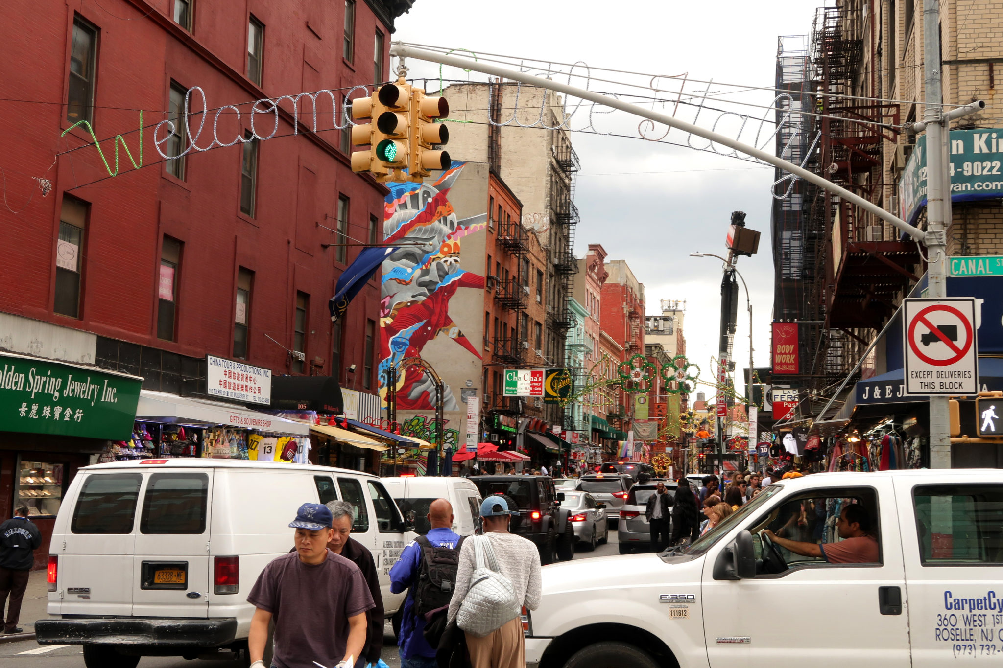 Little Italy, un quartier de Manhattan, New York.
