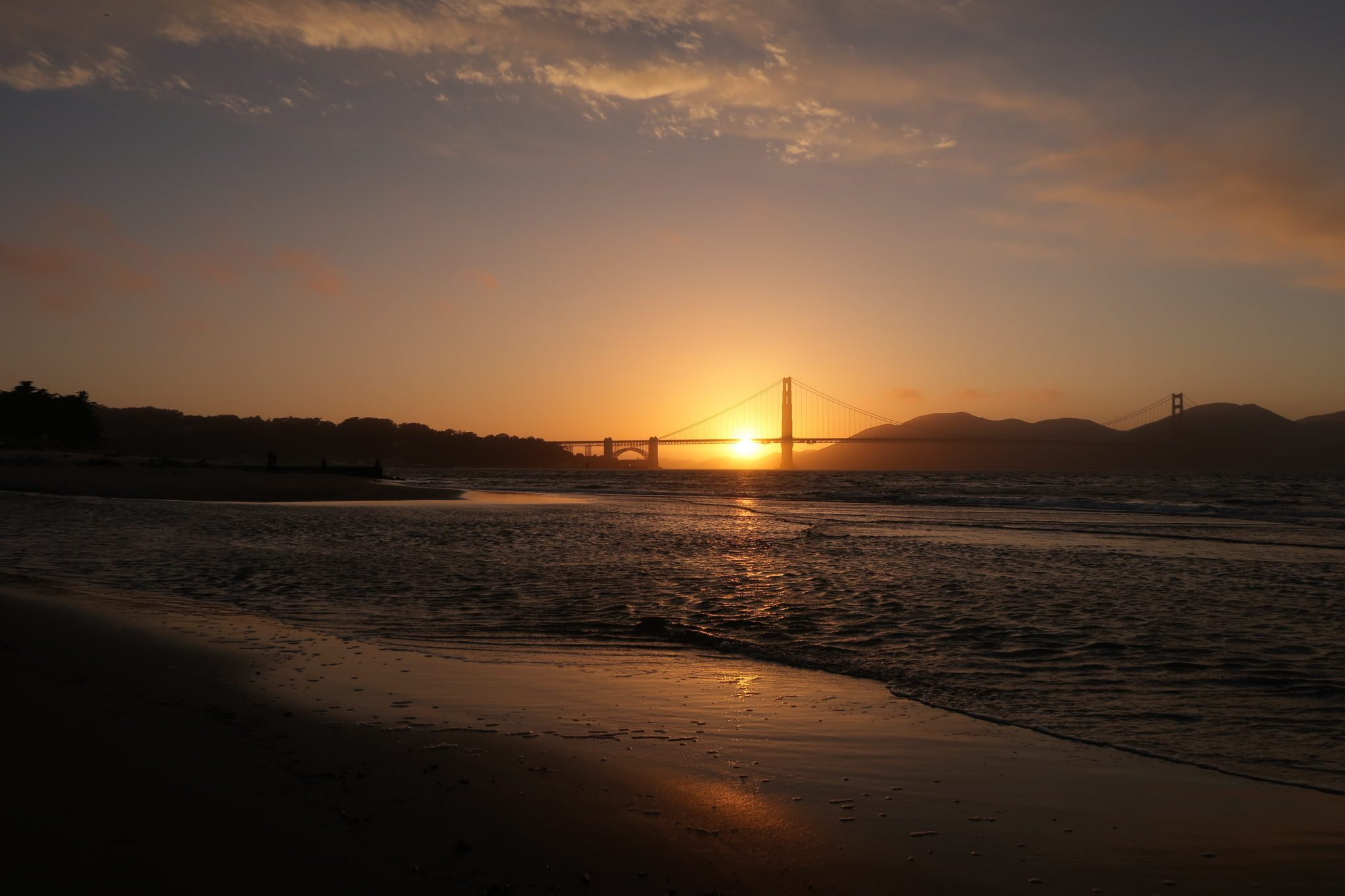 Atardecer en San Francisco, California.
