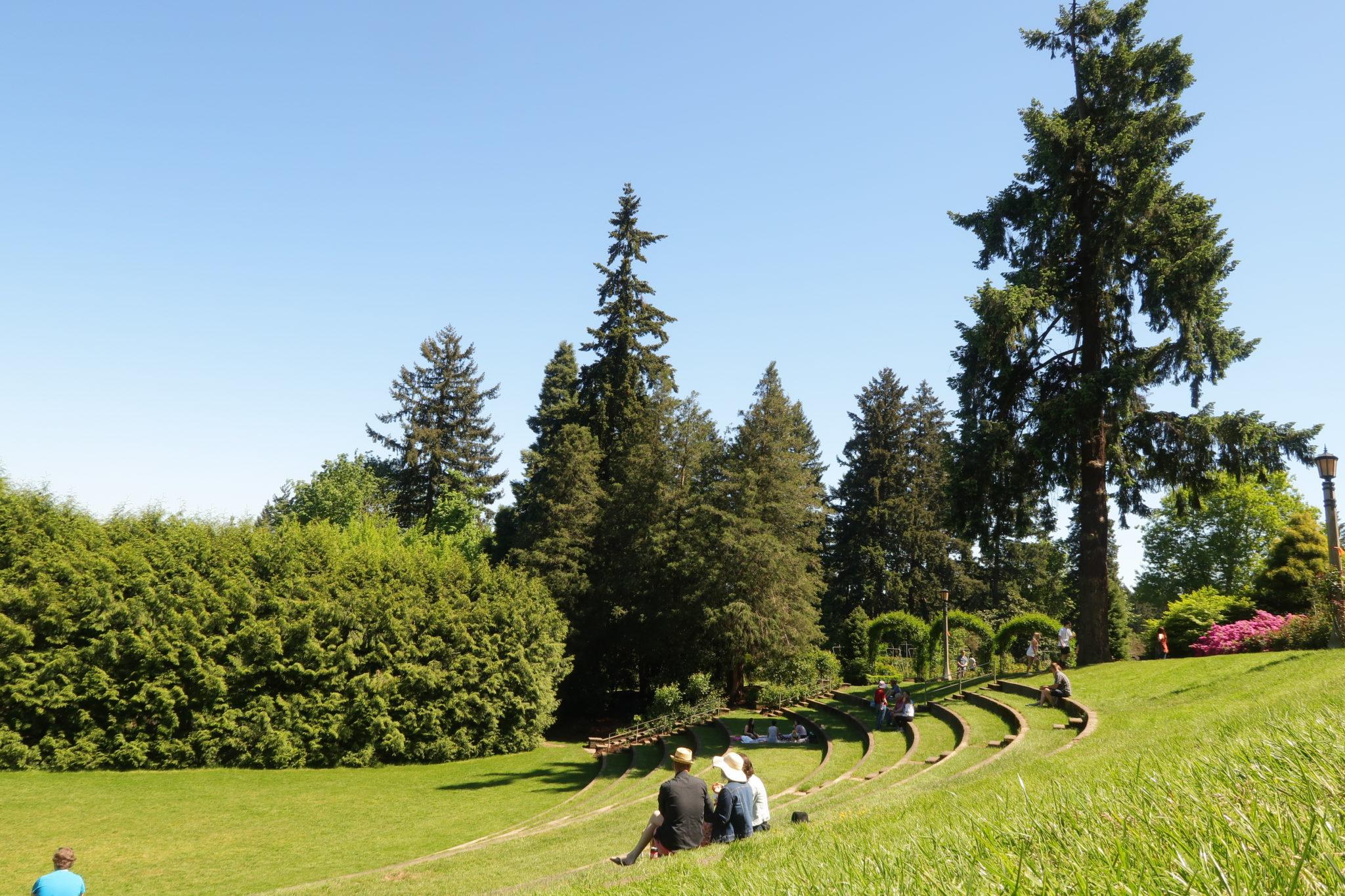 Parque de las rosas en Portland, Oregon.