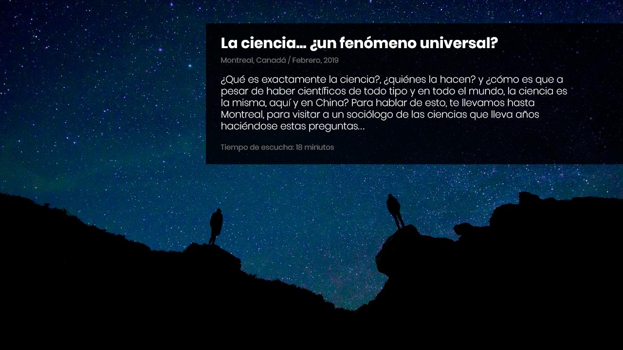 La ciencia, ¿un fenómeno universal?